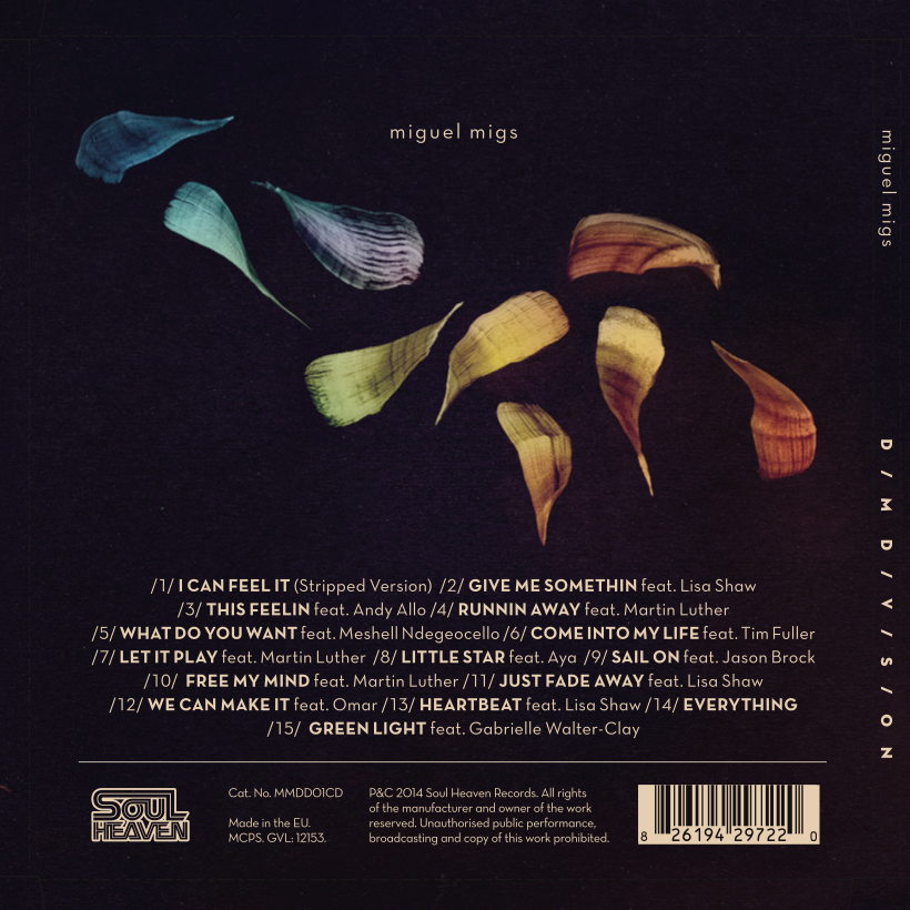 Dim Division Miguel Migs - CD Back Cover